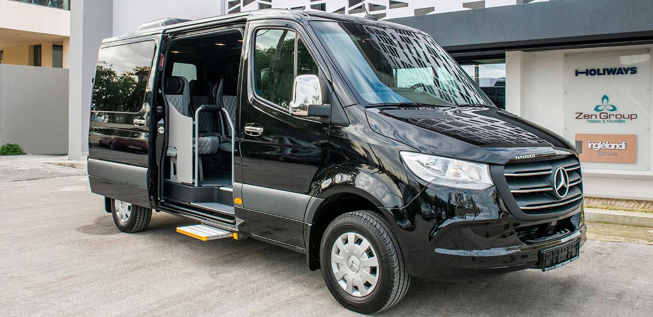 Zen Group High Quality Taxi and Minivan Transfers in Crete - minivan fleet
